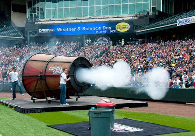 Candle Cannon - Colorado Rockies Weather & Science Day