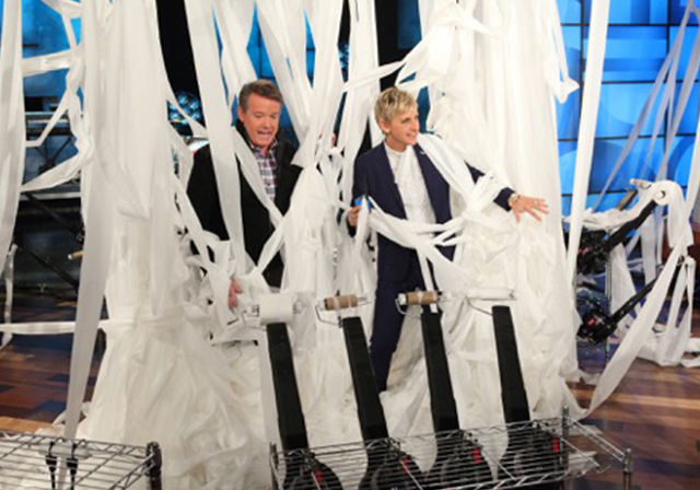 Steve Spangler, Ellen DeGeneres, and a lot of toilet paper!