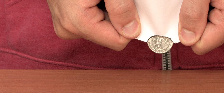 Coin Through Index Card Magic