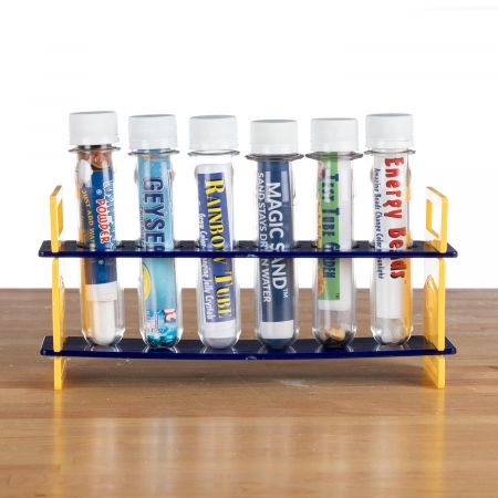 Six Test Tubes in a Rack