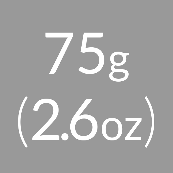 75g (2.6oz)